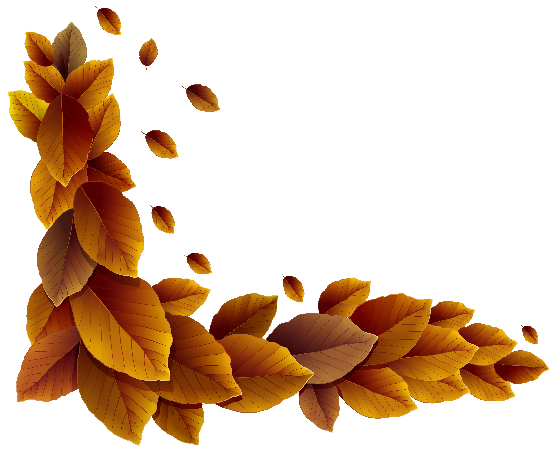 Leaves clipart corner Yopriceville Corner Gallery Fall Leaves
