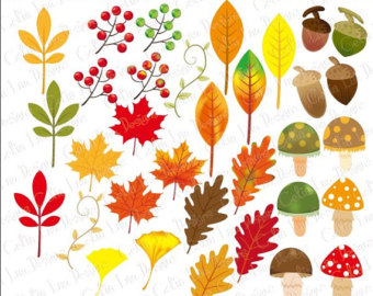 Leaves clipart halloween Clip Clipart Clipart Digital Elements