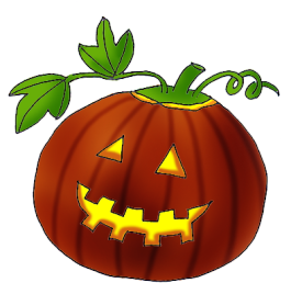 Leaves clipart halloween Leaves art Happy pumpkin clip