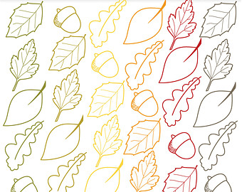 Leaves clipart leaf outline #15