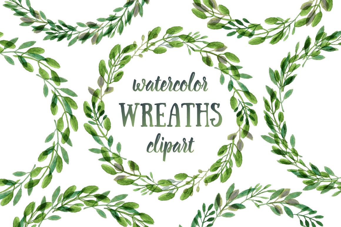 Wreath clipart watercolor Clip Clipart Minimalist download Art