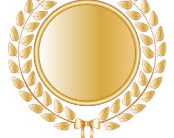 Wreath clipart medal Download Golden Digital Wreath Vector