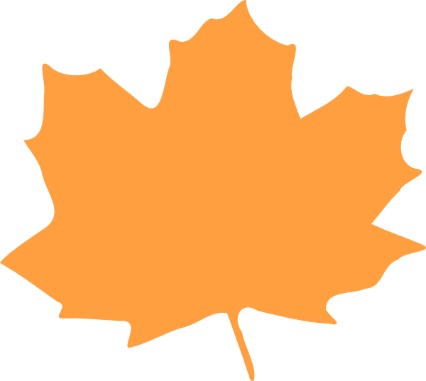 Leaves clipart orange leaf Image  at Download com
