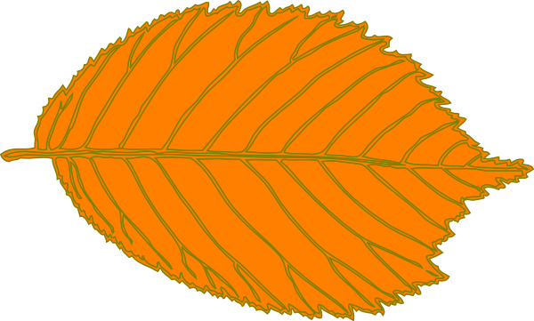 Leaves clipart orange leaf Orange Orange Clip Cliparts Free