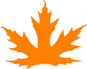 Leaves clipart orange leaf Leaf Orange Bright Clipart Leaf