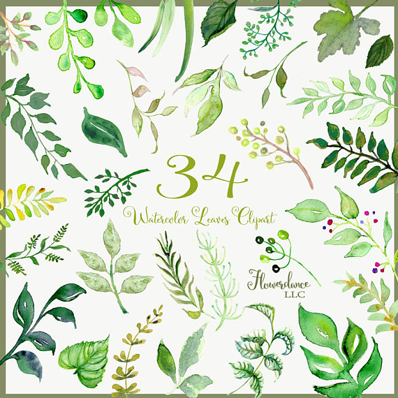 Leaves clipart wedding #15