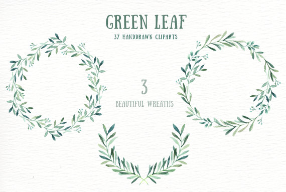 Leaves clipart wedding #7