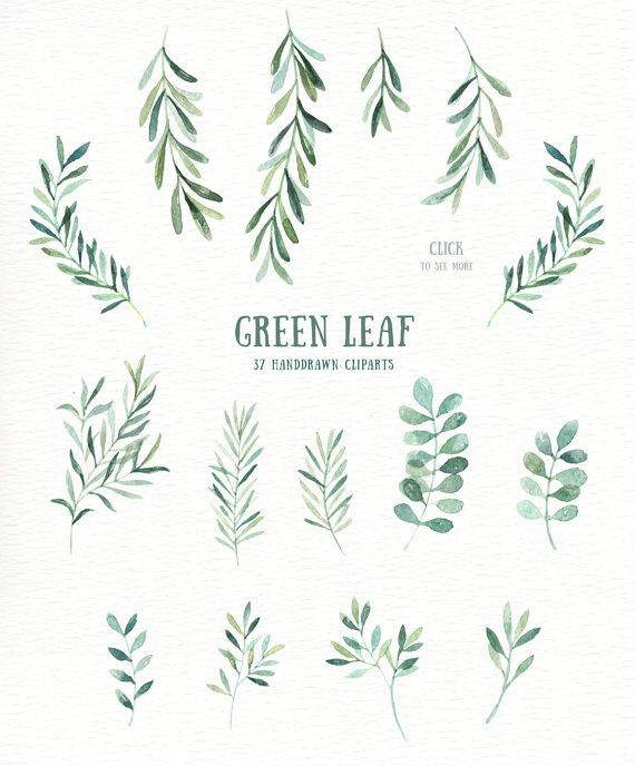 Leaves clipart wedding #12