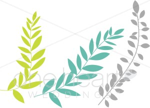 Leaves clipart wedding #9