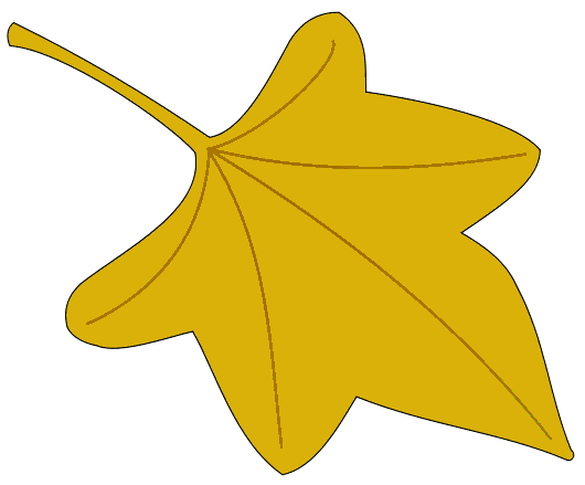 Leaves clipart yellow leaf #11