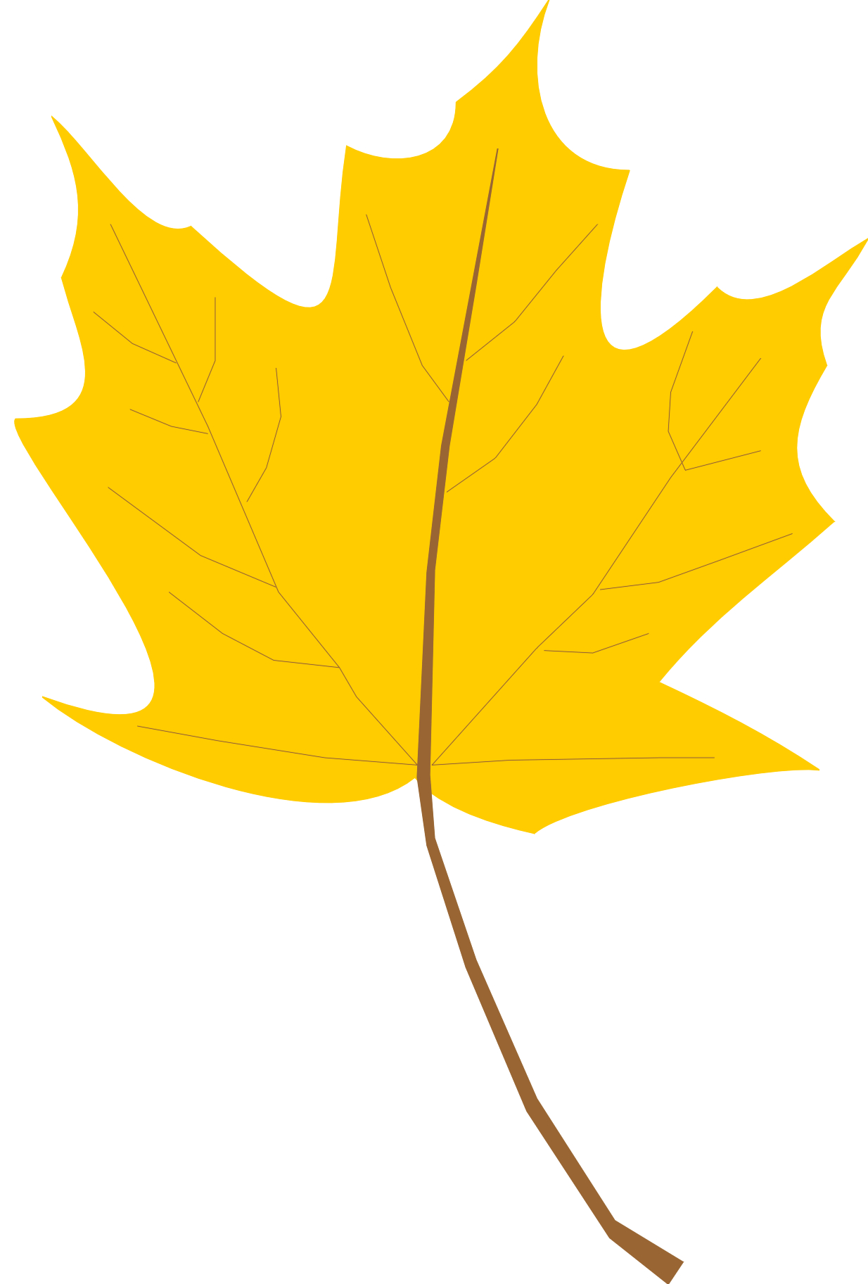 Leaves clipart yellow leaf #13