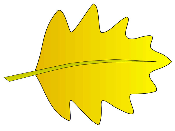 Leaves clipart yellow leaf #9