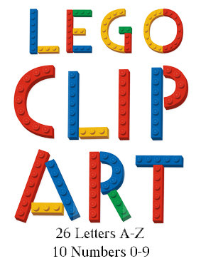 Letter clipart lego Decor WashiPlannerStickers 26 Lego Movie