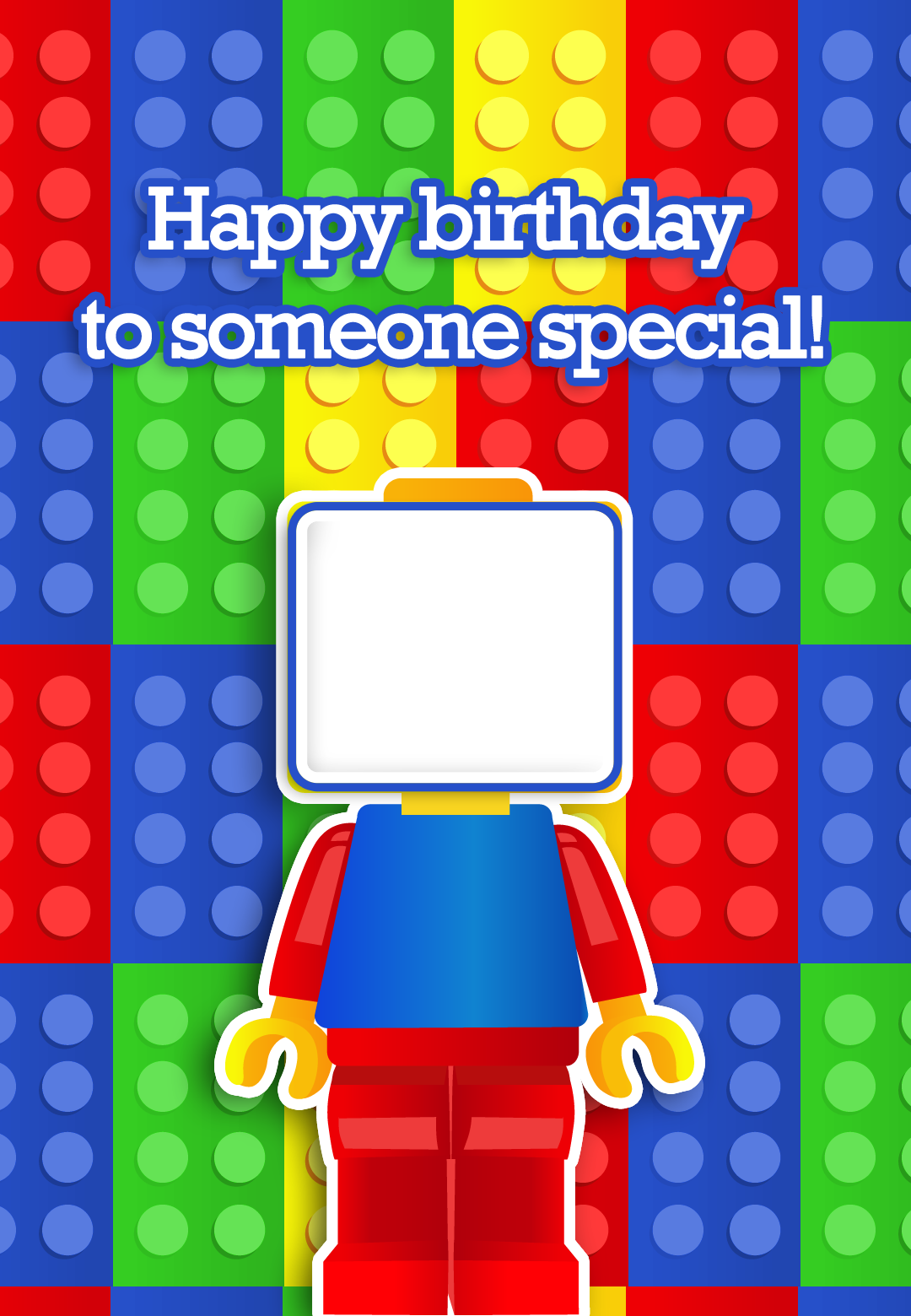 Lego clipart birthday card Free Card with