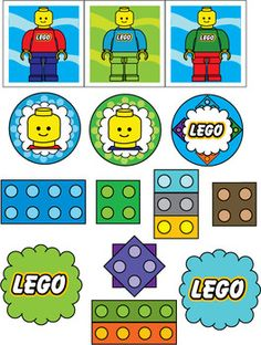 Lego clipart birthday card Stickers birthday Card Printable Ideas