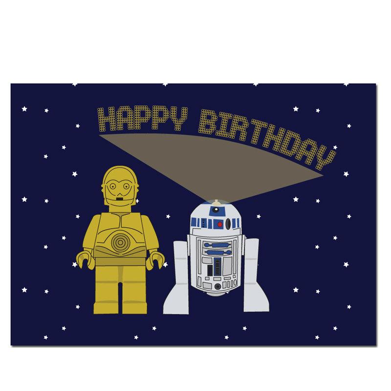 Lego clipart birthday card C3PO Print free Cards Wars