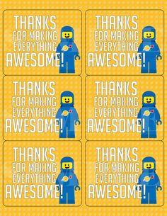 Lego clipart birthday card Lego Lego  Thank Card