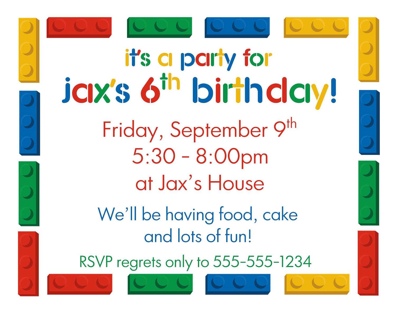 Lego clipart birthday card  Party Invitations Printable #425304: