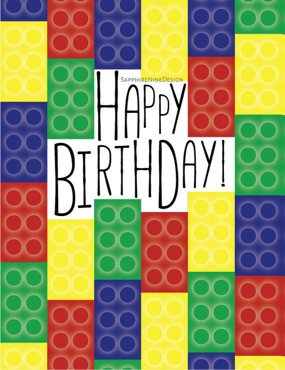 Lego clipart birthday card Items – net card card