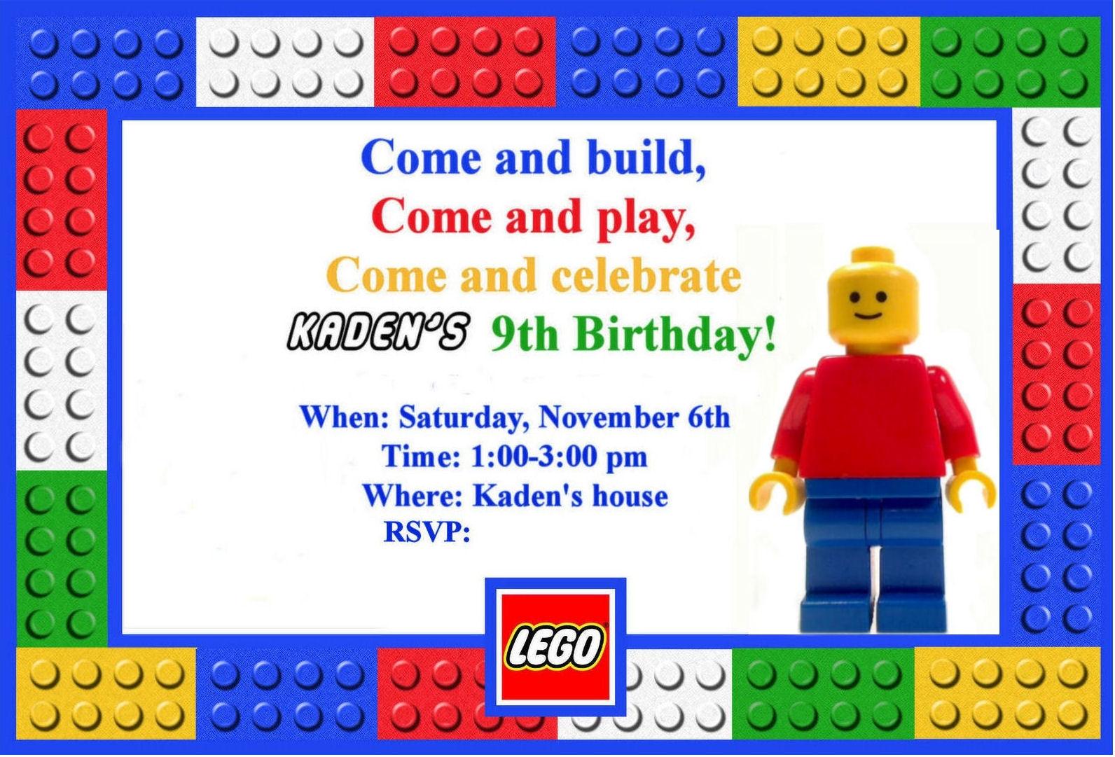 Lego clipart birthday card Lego Birthday LEGO 7 Zone
