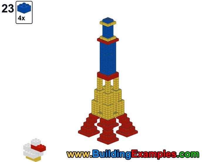 Lego clipart block tower On Eiffel building ideas Pinterest
