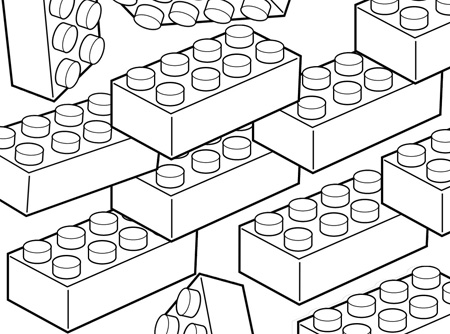 Lego clipart childrens toy Page coloring Pages Lego free