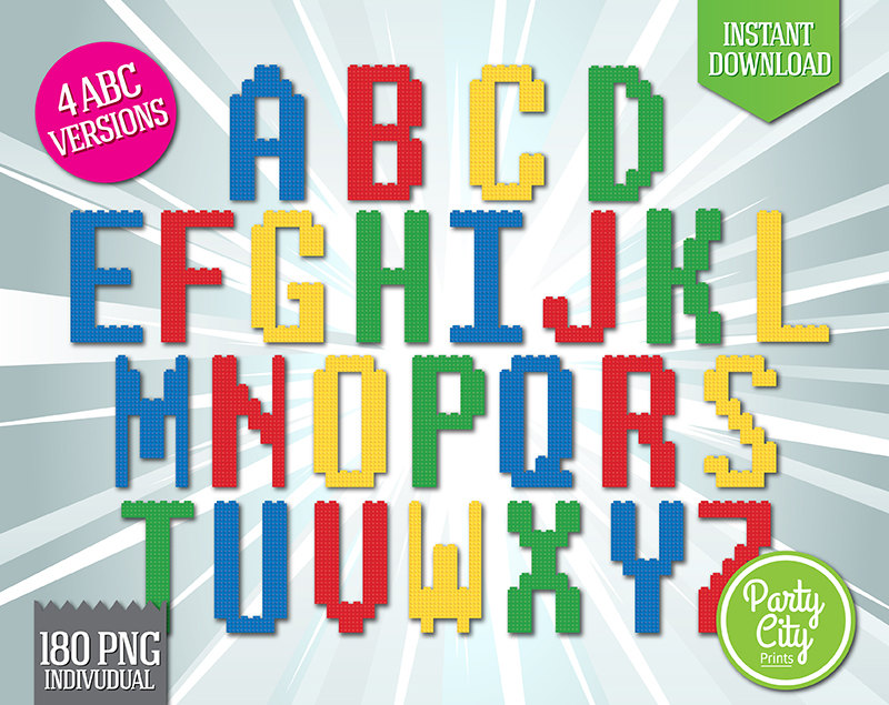 Lego clipart digital Download Letters Clipart Clipart Lego