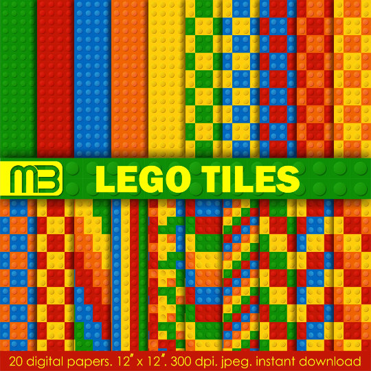 Lego clipart digital Papers for scrapbook paper Clip