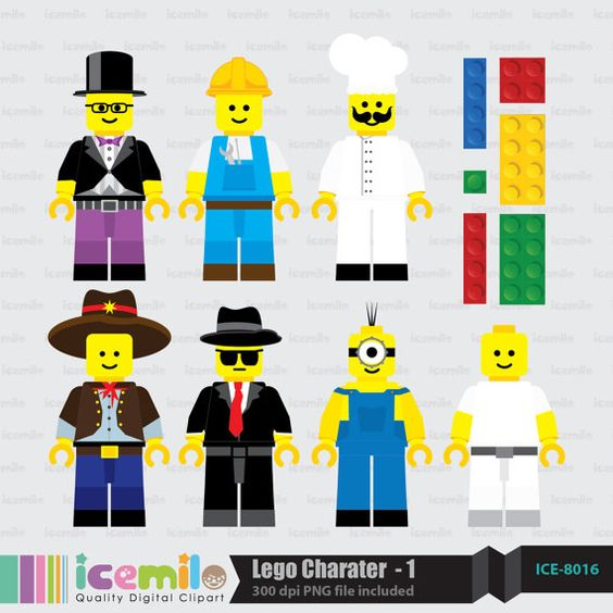 Lego clipart digital By IcemiloClipart on  $5