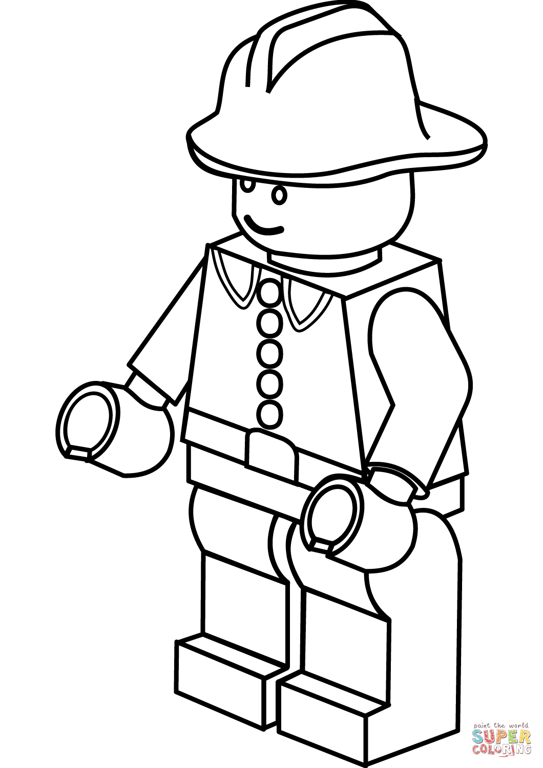 Lego clipart firefighter Lego the Printable Firefighter Pages