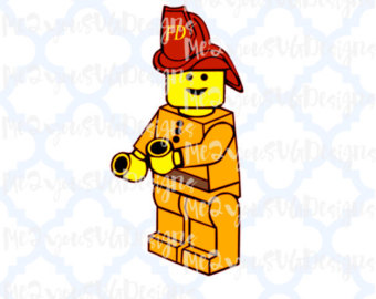 Lego clipart firefighter SVG Fireman Studio Lego PNG