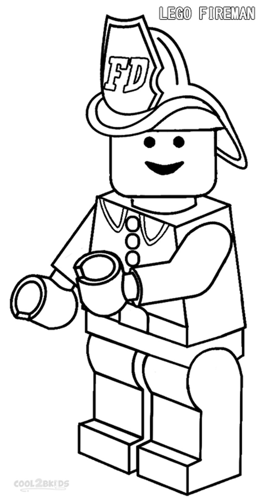 Lego clipart firefighter Pages coloring Fireman coloring adult