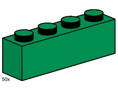 Lego clipart green 1: 1x4 guide and