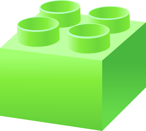 Lego clipart green Green LEGO  lego_brick_light_green free