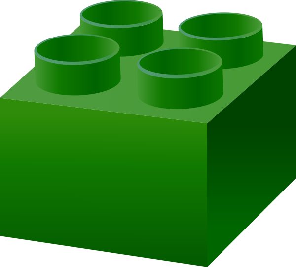 Lego clipart green Green LEGO  lego_brick_dark_green free