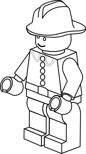 Lego clipart hat Town art/borders Lego Fireman Clip