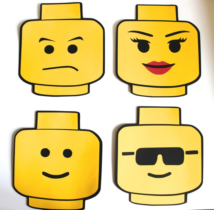 Lego clipart lego head … (Cake head Topper/Centerpiece) Head