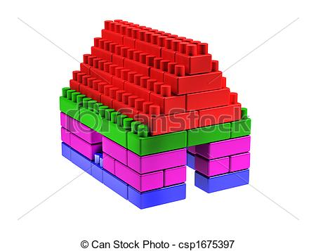 Lego clipart lego house Made of blocks Small house
