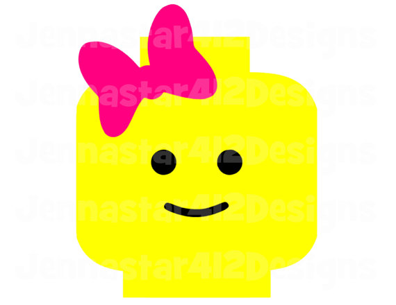 Lego clipart pink On Head Inspired Transfer Inspired