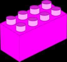 Lego clipart pink Art Brick com Clip Lego