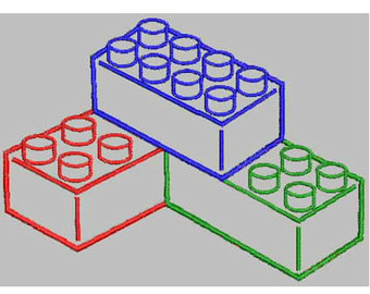 Lego clipart stack Lego Rainbow Lego Stack Embroidery