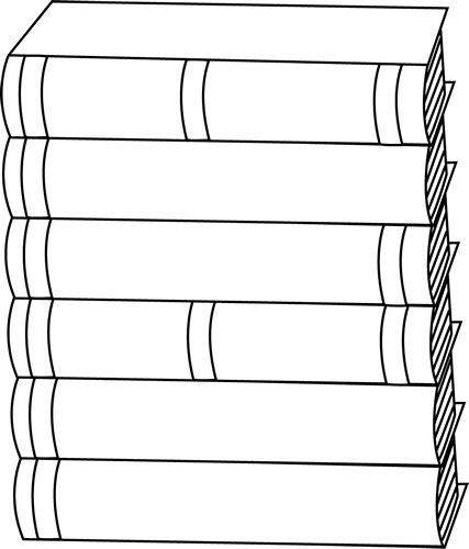 Library clipart book stack Best and Black Pinterest 25+