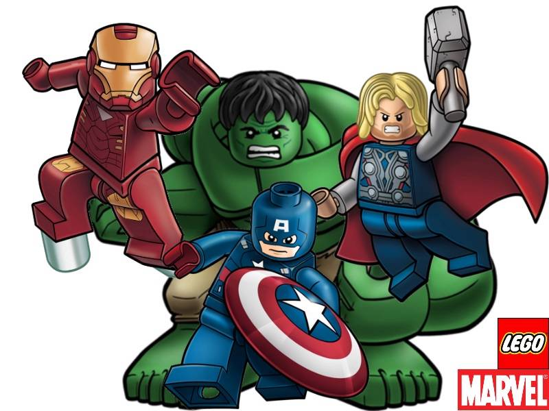 Lego clipart sticker AVENGERS SUPERHEROES STICKERS CHARACTER /