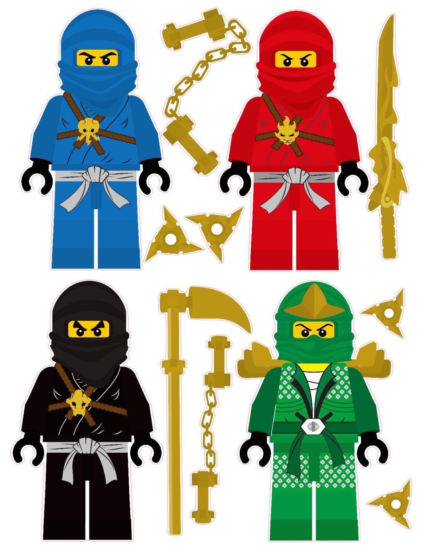 Lego clipart sticker Etsy 4 and throwing shuriken