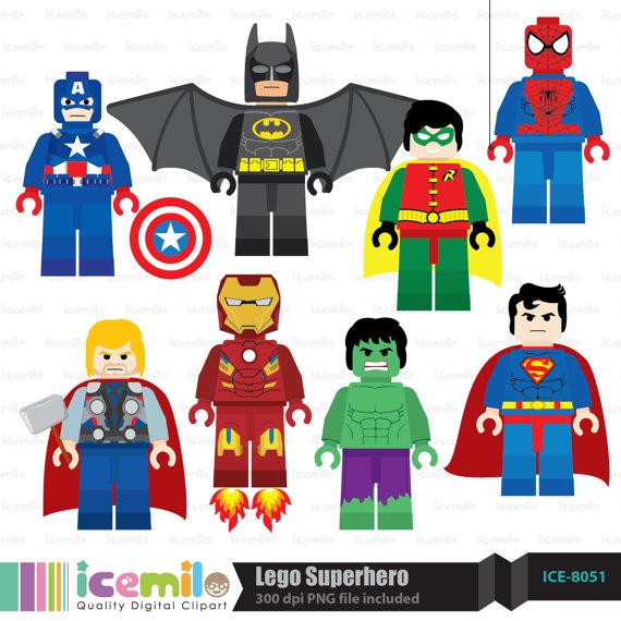 Lego clipart superman On Clipart Superhero  Etsy
