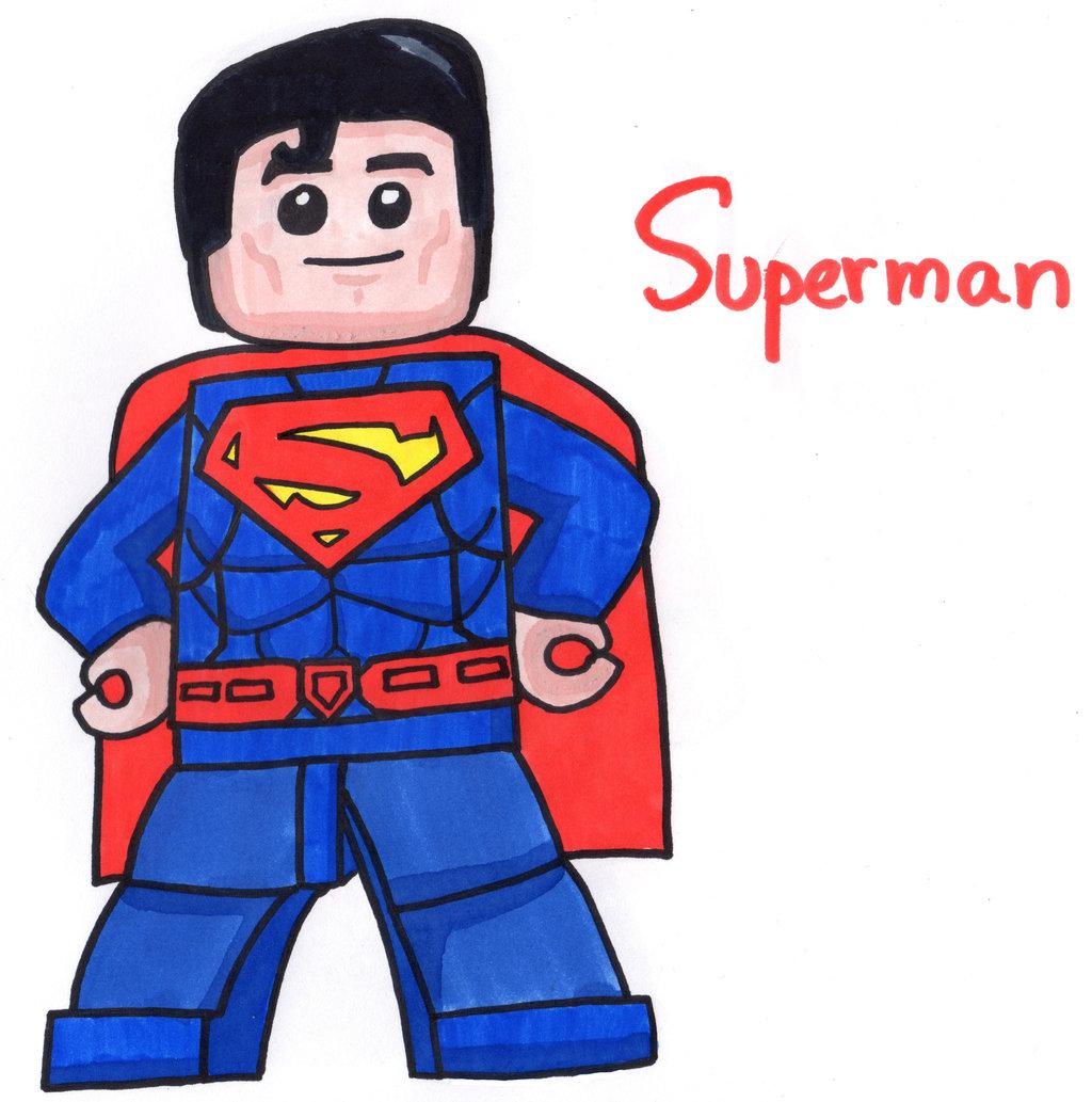 Lego clipart superman cartoon Superman YouCanDrawIt on YouCanDrawIt by
