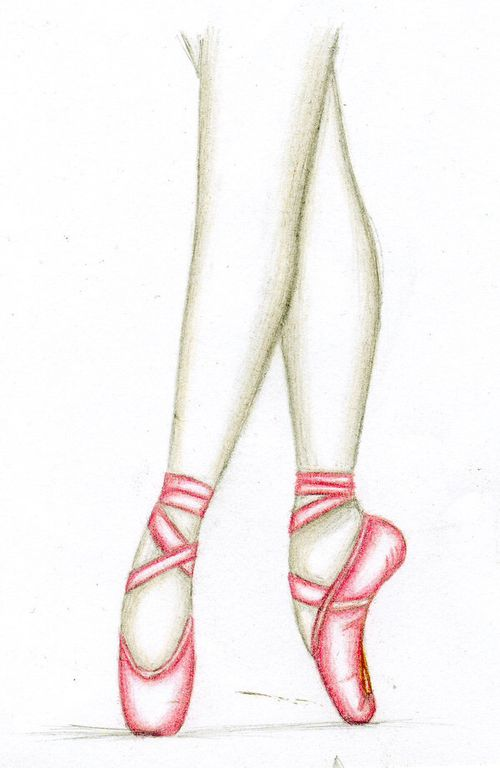 Drawn shoe pointe shoe On of Clipart ballerina Download