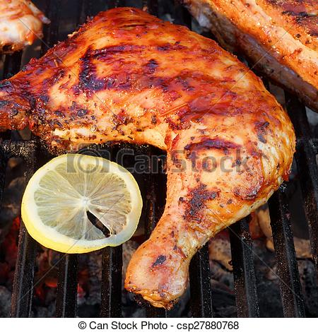 Legs clipart bbq chicken Roasted On Grill BBQ Grill