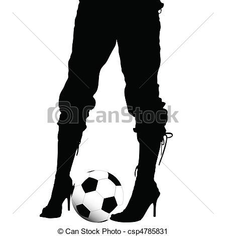 Legs clipart black high heel Soccer ball legs EPS