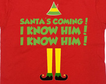Legz clipart buddy the elf Shirts buddy santa elf him